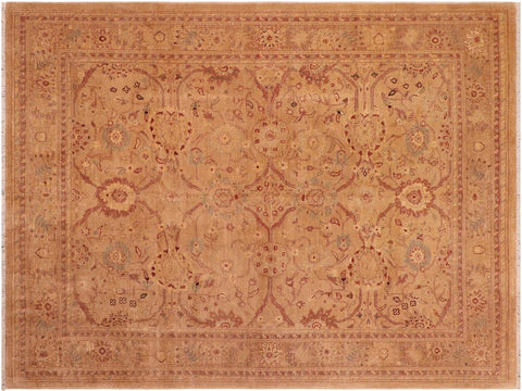 handmade Traditional Kafkaz Tan Brown Hand Knotted RECTANGLE 100% WOOL area rug 8 x 10