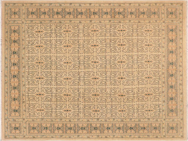 "A01596, 8' 2"" X  9'11"",Transitiona,8' x 10',Natural,TAN,Hand-knotted                  ,Pakistan   ,100% Wool  ,Rectangle  ,652671136924"