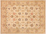 handmade Traditional Kashan Ivory Tan Hand Knotted RECTANGLE 100% WOOL area rug 8x10