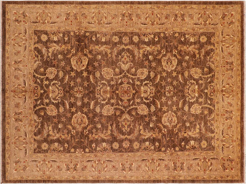 "A01609, 8' 3"" X  9'11"",Traditional,8' x 10',Brown,DARK TAN,Hand-knotted                  ,Pakistan   ,100% Wool  ,Rectangle  ,652671137044"