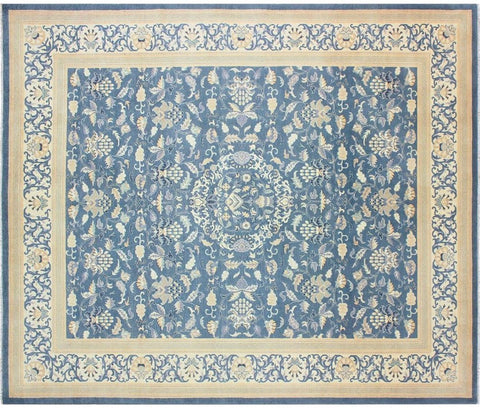 "A01615, 8' 3"" X  9'10"",Traditional,8' x 10',Teal,TAN,Hand-knotted                  ,Pakistan   ,100% Wool  ,Rectangle  ,652671137105"