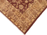 "A01618  8' 2"" X  9' 9"" Traditional 8x10 BROWN TAN Hand Knotted                   Pakistan    100% Wool   Rectangle"