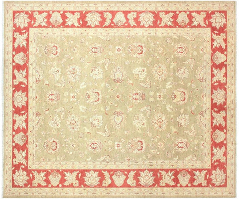 "A01625, 8' 2"" X 10' 1"",Traditional,8' x 10',Green,RUST,Hand-knotted                  ,Pakistan   ,100% Wool  ,Rectangle  ,652671137204"