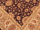 "A01628, 8' 2"" X 10' 7"",Transitional                  ,8' x 10',Purple,IVORY,Hand-knotted                  ,Pakistan   ,100% Wool  ,Rectangle  ,652671137235"