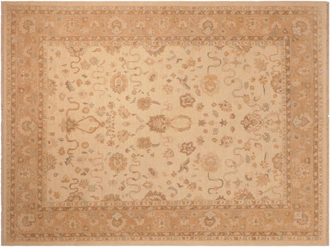 handmade Traditional Kafkaz Beige Brown Hand Knotted RECTANGLE 100% WOOL area rug 8 x 10