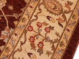 "A01630, 8 2"" X  9 7"",Transitional                  ,8x10,Brown,IVORY,Hand-knotted                  ,Pakistan   ,100% Wool  ,Rectangle  ,652671137259"