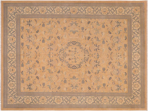 "A01642, 8' 2"" X 10' 2"",Traditional,8' x 10',Pink,IVORY,Hand-knotted                  ,Pakistan   ,100% Wool  ,Rectangle  ,652671137372"