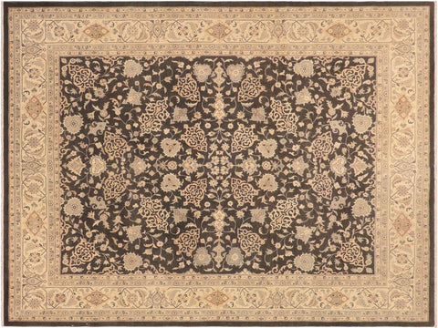 "A01643, 8' 4"" X 10' 0"",Traditional,8' x 10',Grey,IVORY,Hand-knotted                  ,Pakistan   ,100% Wool  ,Rectangle  ,652671137389"