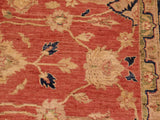 "A01645, 7' 9"" X 10' 0"",Traditional                   ,8' x 10',Rust,BLUE,Hand-knotted                  ,Pakistan   ,100% Wool  ,Rectangle  ,652671137402"
