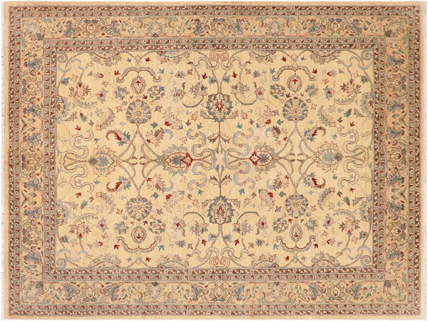 "A01649, 8' 1"" X 10' 0"",Traditional,8' x 10',Natural,IVORY,Hand-knotted                  ,Pakistan   ,100% Wool  ,Rectangle  ,652671137440"