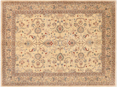 "A01649  8' 1"" X 10' 0"" Traditional 8x10 IVORY IVORY Hand Knotted                   Pakistan    100% Wool   Rectangle"