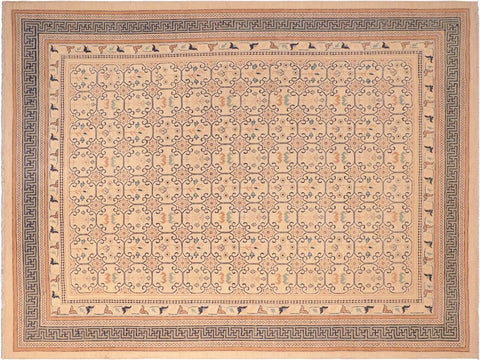 "A01658, 8' 3"" X  9'11"",Transitiona,8' x 10',Natural,LT. GREEN,Hand-knotted                  ,Pakistan   ,100% Wool  ,Rectangle  ,652671137525"