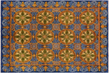 "A01662, 8' 0"" X 10' 1"",Transitional                  ,8' x 10',Blue,GOLD,Hand-knotted                  ,Pakistan   ,100% Wool  ,Rectangle  ,652671137556"
