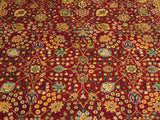"A01712, 9' 3"" X 12' 4"",Traditional                   ,9' x 12',Red,TEAL,Hand-knotted                  ,Pakistan   ,100% Wool  ,Rectangle  ,652671138041"