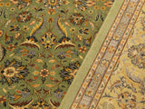 "A01719, 9' 4"" X 12'10"",Traditional                   ,9' x 12',Green,GOLD,Hand-knotted                  ,Pakistan   ,100% Wool  ,Rectangle  ,652671138119"