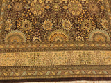 "A01742, 9' 1"" X 11'11"",Traditional                   ,9' x 12',Brown,TAN,Hand-knotted                  ,Pakistan   ,100% Wool  ,Rectangle  ,652671138348"