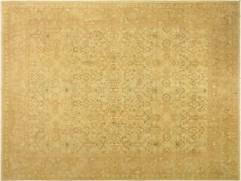 "A01777, 9' 4"" X 11' 0"",Traditional                   ,9' x 12',Tan,ROSE,Hand-knotted                  ,Pakistan   ,100% Wool  ,Rectangle  ,652671138683"