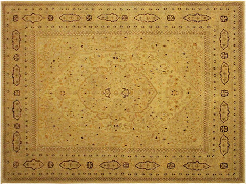 "A01780, 8'10"" X 11' 4"",Traditional                   ,9' x 12',Tan,TAN,Hand-knotted                  ,Pakistan   ,100% Wool  ,Rectangle  ,652671138713"