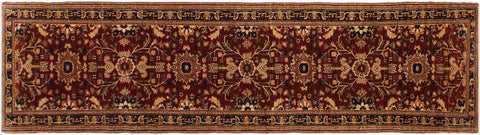 "A01795, 2' 8"" X 13' 4"",Transitional                  ,3' x 13',Red,BLUE,Hand-knotted                  ,Pakistan   ,100% Wool  ,Runner     ,652671138867"