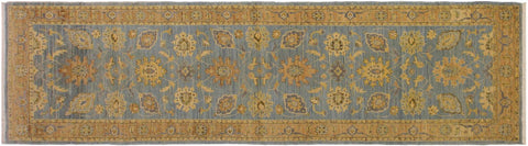 "A01811, 2' 9"" X  9' 8"",Transitional                  ,3' x 10',Blue,LT. BROWN,Hand-knotted                  ,Pakistan   ,100% Wool  ,Runner     ,652671139000"