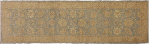"A01812, 2' 5"" X  9' 7"",Transitional                  ,2' x 10',Blue,TAN,Hand-knotted                  ,Pakistan   ,100% Wool  ,Runner     ,652671139017"