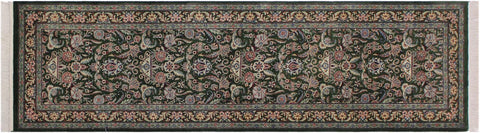 "A01836, 2' 6"" X  7'11"",Traditional                   ,3' x 8',Green,PINK,Hand-knotted                  ,Pakistan   ,100% Wool  ,Runner     ,652671139253"