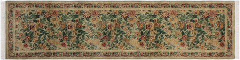 "A01844, 2' 8"" X 10' 3"",Traditional                   ,3' x 10',Green,RED,Hand-knotted                  ,Pakistan   ,100% Wool  ,Runner     ,652671139338"