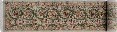 "A01882, 2' 6"" X 11'11"",Traditional                   ,3' x 12',Green,LT. BROWN,Hand-knotted                  ,Pakistan   ,100% Wool  ,Runner     ,652671139703"