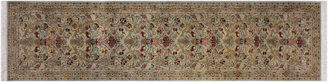 "A01888, 2' 5"" X 10' 0"",Traditional                   ,3' x 10',Green,LT. BROWN,Hand-knotted                  ,Pakistan   ,100% Wool  ,Runner     ,652671139765"