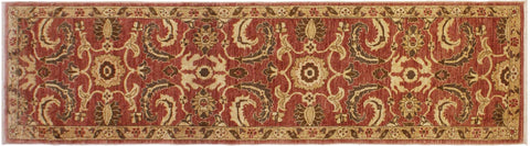 "A01903, 3' 1"" X 12' 3"",Transitional                  ,3' x 12',Pink,GOLD,Hand-knotted                  ,Pakistan   ,100% Wool  ,Runner     ,652671139918"