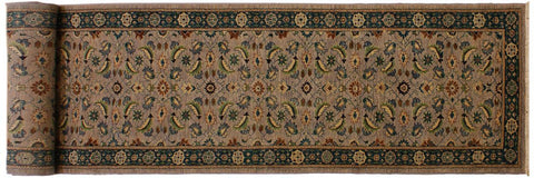 "A01904, 3' 0"" X 17'10"",Transitional                  ,3' 18',Silver,GREEN,Hand-knotted                  ,Pakistan   ,100% Wool  ,Runner     ,652671139925"