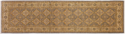 "A01914, 2' 9"" X  9' 5"",Transitiona,3' x 10',Grey,GOLD,Hand-knotted                  ,Pakistan   ,100% Wool  ,Runner     ,652671140020"