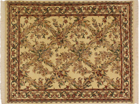 "A01926, 4' 0"" X  6' 2"",Transitional                  ,4' x 6',Natural,GRAY,Hand-knotted                  ,Pakistan   ,100% Wool  ,Rectangle  ,652671140143"