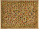 "A02012, 4' 2"" X  6' 3"",Traditional                   ,4' x 6',Silver,LT. GREEN,Hand-knotted                  ,Pakistan   ,100% Wool  ,Rectangle  ,652671141003"