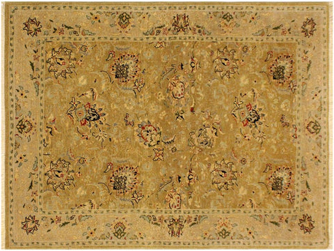 "A02014, 4' 4"" X  6' 2"",Traditional                   ,4' x 6',Gold,GRAY,Hand-knotted                  ,Pakistan   ,100% Wool  ,Rectangle  ,652671141027"