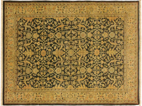 "A02017, 4' 2"" X  5'10"",Traditional                   ,4' x 6',Green,BEIGE,Hand-knotted                  ,Pakistan   ,100% Wool  ,Rectangle  ,652671141058"