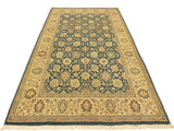 "A02028, 4' 2"" X  6' 3"",Transitional                  ,4' x 6',Teal,IVORY,Hand-knotted                  ,Pakistan   ,100% Wool  ,Rectangle  ,652671141164"