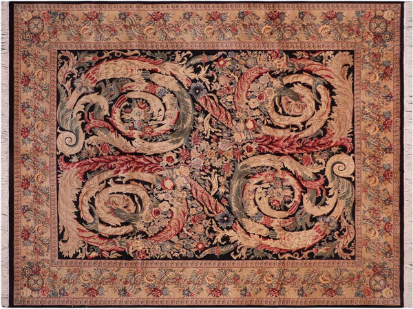 "A02069, 8' 1"" X 10' 2"",Traditional                   ,8' x 10',Black,RED,Hand-knotted                  ,Pakistan   ,100% Wool  ,Rectangle  ,652671141546"