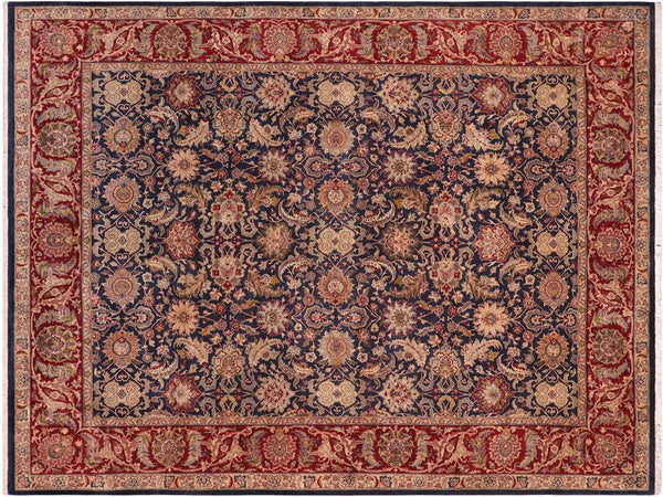 "A02084, 8' 3"" X 10' 2"",Traditional                   ,8' x 10',Blue,RED,Hand-knotted                  ,Pakistan   ,100% Wool  ,Rectangle  ,652671141690"