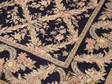 "A02142, 9' 2"" X 12' 0"",Transitional                  ,9' x 12',Blue,GRAY,Hand-knotted                  ,Pakistan   ,100% Wool  ,Rectangle  ,652671142246"