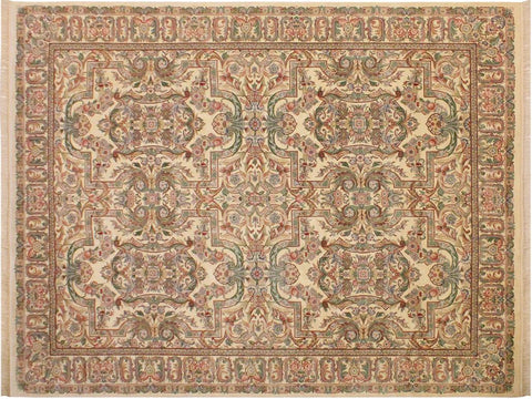 "A02166, 9' 1"" X 12' 3"",Traditional                   ,9' x 12',Natural,IVORY,Hand-knotted                  ,Pakistan   ,100% Wool  ,Rectangle  ,652671142475"