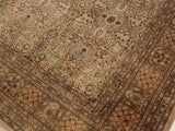 "A02201, 9' 0"" X 11'11"",Transitional                  ,9' x 12',Tan,LT. BROWN,Hand-knotted                  ,Pakistan   ,100% Wool  ,Rectangle  ,652671142819"