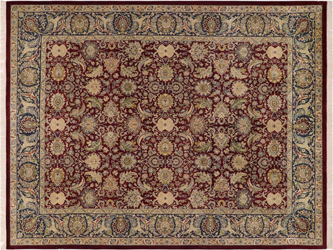 "A02226, 9' 1"" X 12' 2"",Transitional                  ,9' x 12',Purple,BLUE,Hand-knotted                  ,Pakistan   ,100% Wool  ,Rectangle  ,652671143045"