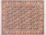 "A02241, 4' 8"" X  7' 1"",Transitional                  ,5' x 7',Green,TAN,Hand-knotted                  ,Pakistan   ,100% Wool  ,Rectangle  ,652671143199"
