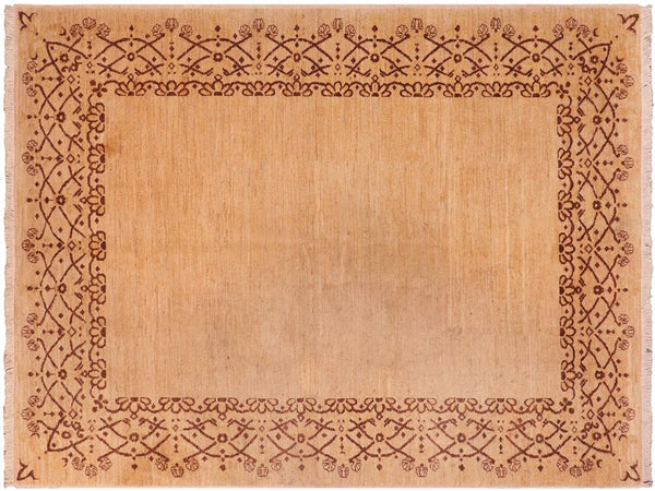 "A02265, 4'11"" X  7' 2"",Modern                        ,5' x 7',Tan,BROWN,Hand-knotted                  ,Pakistan   ,100% Wool  ,Rectangle  ,652671143403"