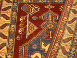 "A02270, 4' 0"" X  5' 5"",Geometric                     ,4' x 5',Rust,TAN,Hand-knotted                  ,Pakistan   ,100% Wool  ,Rectangle  ,652671143458"