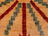 "A02278, 5' 2"" X  6' 8"",Modern                        ,5' x 7',Tan,RED,Hand-knotted                  ,Pakistan   ,100% Wool  ,Rectangle  ,652671143533"