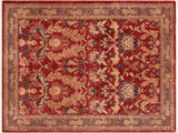 "A02284, 4'10"" X  6'11"",Traditional                   ,5' x 7',Rust,TAN,Hand-knotted                  ,Pakistan   ,100% Wool  ,Rectangle  ,652671143595"