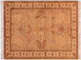 "A02287, 4' 7"" X  6' 9"",Transitional                  ,5' x 7',Gold,LT. TAN,Hand-knotted                  ,Pakistan   ,100% Wool  ,Rectangle  ,652671143625"
