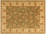 "A02292, 5' 0"" X  6' 8"",Traditional                   ,5' x 7',Green,IVORY,Hand-knotted                  ,Pakistan   ,100% Wool  ,Rectangle  ,652671143670"